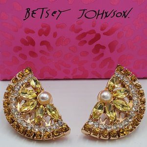 Betsey Johnson. Lemon Slice Earrings